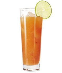 Sangrita Cocktail   1.5oz tequila, 2oz oj, 1oz lime juice, 1oz tomato juice, tabasco