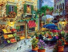1.000 Teile Puzzle Spiel Deutsch 2012 Country Living Thomas Kinkade