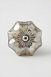 Love this Mercury Glass Knob, would look great with my white kitchen cabinets