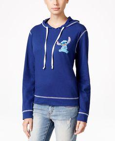 Hybrid Juniors' Disney Stitch Graphic Hoodie