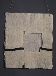 Chillida, Eduardo: Gravitación IV Contemporary Abstract Art, Modern Art, Collage Art, Collages, Origami Paper Art, Cardboard Art, Art Object, Action Painting, Installation Art