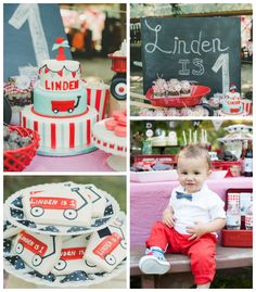 Little Red Wagon 1st birthday party via Kara's Party Ideas
