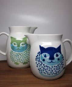 Arabia Finland Kissa' Cat Pitcher Kaj Franck & door SwearToMod