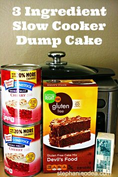 A Year of Slow Cooking: 3-Ingredient Slow Cooker Dump Cake