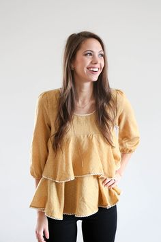 The Twirl Peplum in Honey