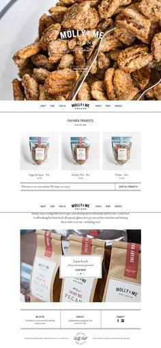 http://mollyandmepecans.com/ Repinned by www.strobl-kriegner.com #branding #webdesign #design #creative #marketing #web