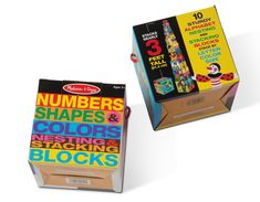 Melissa and Doug Nesting Blocks (Set of 2) - Alphabet and Numbers, Shapes and Colors Stacking Toy -- Check out the image by visiting the link. (This is an affiliate link)