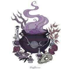 Musing of a witchy writer Art Inspo, Kunst Inspo, Inspiration Art, Fitness Inspiration, Halloween Illustration, Illustration Art, Fantasy Kunst, Fantasy Art, Dark Fantasy