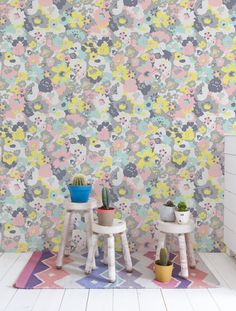Wildflower Wallpaper in Neopolitan design by Aimee Wilder