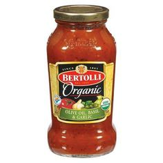 Bertolli Organic Sauce - Olive Oil, Basil,