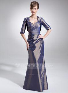 fae6085de65 Trumpet Mermaid Sweetheart Floor-Length Taffeta Mother of the Bride Dress  With Ruffle ( · Mob DressesBride DressesModest ...