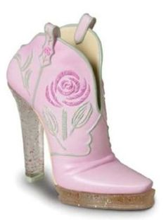Just the Right Shoe – Glittering Cowgirl figurine