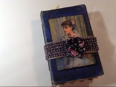 A Fabric Journal tucked inside an Old Book Cover - YouTube