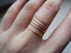cool gold band ring