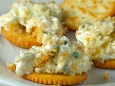 a creamy cheesey mexican flavored dip that is great on crackers!