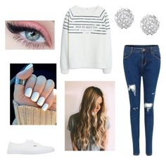 """Comfy winter outfit"" by calliesusanne on Polyvore featuring MANGO, Finesque and Vans"