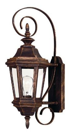 Kenroy Home 16312AP Estate 1-Light Small Wall Lantern, Antique Patina by Kenroy Home. $88.20. 1-to-100-Watt medium base bulb. Antique patina finish. 21-Inch height, 8-Inch width, 10-Inch extension. Clear glass panels; other finishes available. From the Manufacturer                The Antique Patina or rich Black finish of Estate will grace any size manor. With clear glass panels, the wall-mounted lanterns feature sinuous decorative brackets, adding scale and refinement to your e...