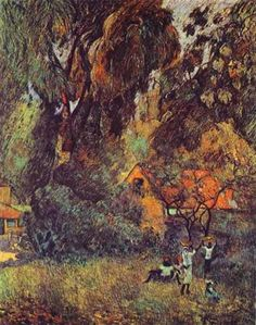 Huts under Trees - Paul Gauguin