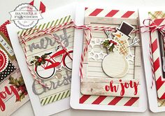 Christmas cards tutorial by Danielle Flanders