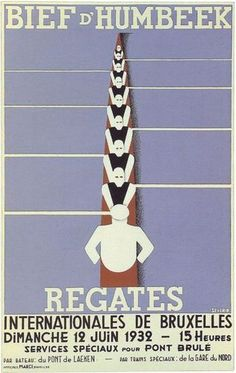1932 Belgian Rowing Regatta Poster A3 A2 Print | eBay