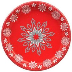 Christmas House Snowflake Paper Party Plates, 18-ct. Packs