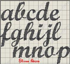 Monograma com lacinho Minie criado por Zaré ponto cruz reproduzido por mim....Silvana Artes com 40 de Altura.