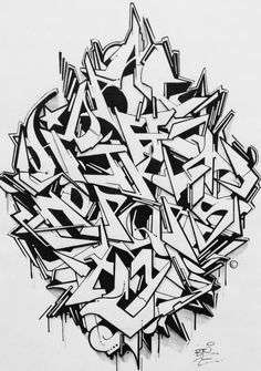 Graffiti Alphabet Lettering Typography Wildstyle Tagging Dynamic Design Urban Art Drawing Practice Visual Arts