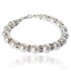 Tatiana Swarovski Crystal Pearl Bracelet – Treasure Bird