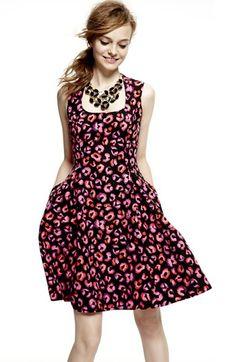 kate spade new york 'kimi' Cotton & Silk A-Line Dress | Nordstrom