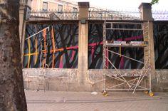 """Pablo S. Herrero y E1000 en el Proyecto """"Muros"""".#ArteTabacalera Promoción del Arte #ArteUrbano #StreetArt Madrid Día 6 #Arterecord 2014 https://twitter.com/arterecord"""