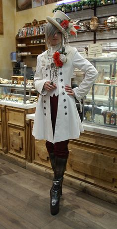 "hide-vi: ""Finally I got my absolutely number one dream item - white Roland jacket. My outfit for New Year Moscow lolita meet-up. Harajuku Fashion, Lolita Fashion, Gothic Fashion, Boy Fashion, Fashion Outfits, Style Fashion, Fashion Clothes, Victorian Fashion, Fashion Ideas"