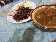 Sate and gulai kambing