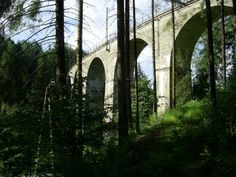 Railway viaduct in Wisła (Poland) 122 m long and 25 m high, has seven arches. It was built in 1931-1933