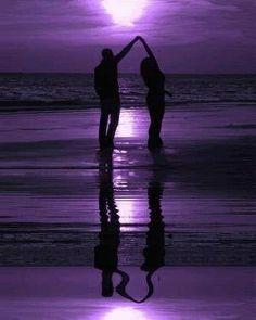 Purple Beach and Ocean photo