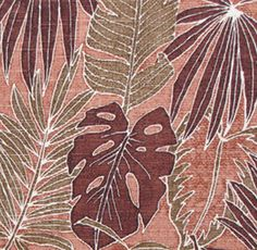 Tropical Leaf Fabric. Check it out at HawaiianFabricNBYond.Etsy.com  Aloha :)