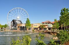 The Island in Pigeon Forge -- Come shop, eat, ride the wheel to see the amazing views or relax in the chairs around the dancing water fountains