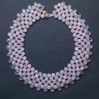 colar domingo . quartzo rosa e ouro by junia machado