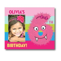 The perfect way to commemorate your lil' monsters special day! | Psychobaby Beastly Babe Birthday Picture Frame