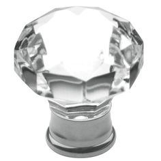 Baldwin Flat Faceted Crystal 1-3/16 in. Polished Chrome Cabinet Knob Model # 4323.260 HomeDepot $12.32