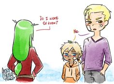 """artsy-alice: """"""""The Fraxus Baby That No One Asked For (freed was gone a day and his boys end up like this. actually: they were training. and they, uh… """"fell"""" or something) (a sorta sequel to Laxus Tries to Deal with Kids, supposed to be a fic, but i..."""