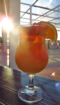 Sweet Sundowners: Ocean Echo's famous rum punch, The Rumzie!