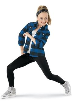 Weissman™ | Buffalo Plaid Shirt, Cami & Leggings