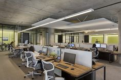 STUDIOS Architecture has designed a new office for internet communications firm Neustar located in San Francisco, California. We looked at Neustar's San Diego offices previously.