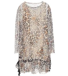 Dark brown CHLOÉ  casual dress  for woman Leopard-print Cotton And Linen-blend Dress By Chloé #vestidoinformal #camisole #túnica #shift #pleat #pleated #drape #t-shape #daisy #foldedshoulder #summer #loosefit #tunictop #swing #day #offtheshoulder #smock #print #printed #tea #babydolldress #polodress #pansybow #sundress #offshoulder