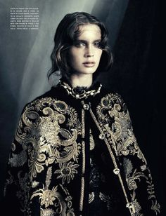 before you kill us all: EDITORIAL Vogue Italia October 2012 Feat. Marine Vacth in Dolce & Gabbana by Paolo Roversi