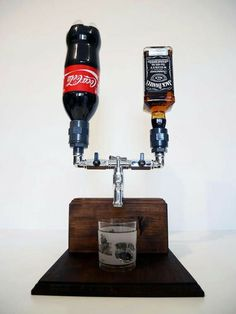 Handmade Wooden Liquor Dispenser Alcohol by SteamVintageWorks Hey Mine would be Jack & Dr Pepper! Alcohol Dispenser, Drink Dispenser, Handmade Home Decor, Handmade Wooden, Ideias Diy, Wood Projects, Diy And Crafts, Woodworking, Cool Stuff