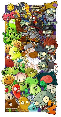 Varios personajes (Plants vs Zombis 2)