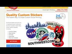 Custom Printed Laptop Stickers StickerGiant D.F. One way to create stickers- shows options for different price ranges.