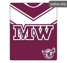 nrl-team-logo-polar-fleece-printed-155x127cm-throw-manly-sea-eagles Nrl Merchandise, Quilt Cover Sets, Polar Fleece, Eagles, Team Logo, Sea, Quilts, Printed, Logos