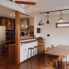 French Home Interior .French Home Interior Cafe Interior, Interior Design Kitchen, Kitchen Decor, Cow Kitchen, Kitchen Sink, Japanese Home Decor, Japanese Interior, Loft Cafe, Cocina Office
